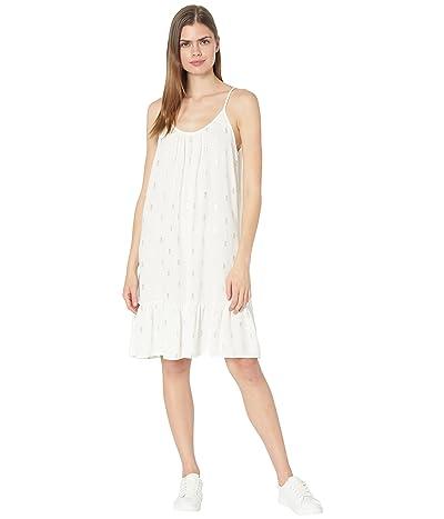 bobi Los Angeles Foil Print Crepe Shirred Neck Cami Dress