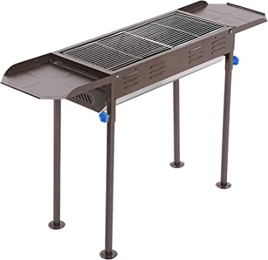 Charcoal Grill Portable BBQ Grill Large Charcoal Grill Folding Barbecue Grill Charcoal Shish Kebab Grill Stainless Steel Camp