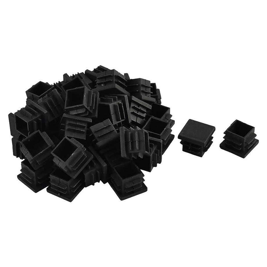 テレビ縮れた良性uxcell 家具保護パッド 椅子足プラスチック チェアマット 四角形ブラック 19 x 19mm 40個入り