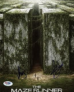 Maze Runner (2) Kaya Scodelario & Will Poulter Signed 8X10 Photo #X12283 - PSA/DNA Certified