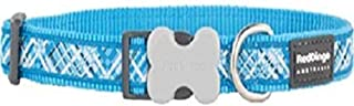 Red Dingo L6-FN-TQ-25 Flanno Dog Collar, Large, Turquoise