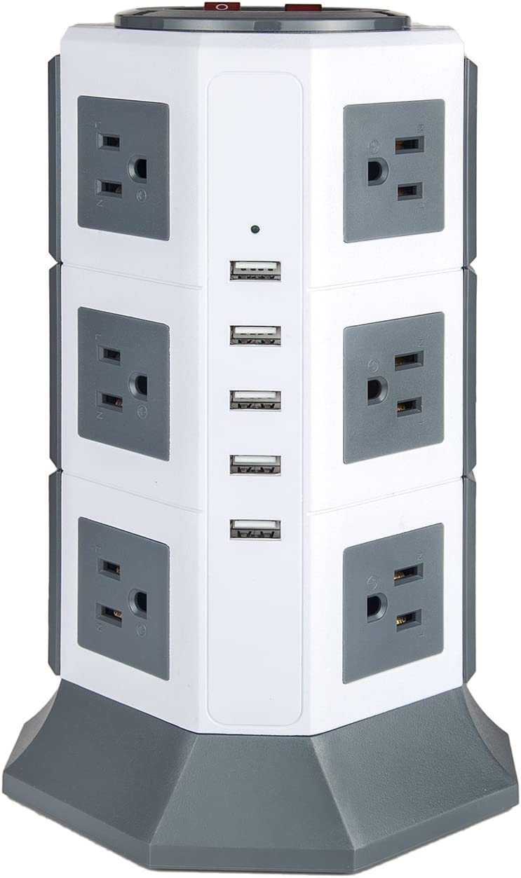 Surge Protector 2021 autumn and winter new with USB Power 5 4 years warranty Advanced Strip 12-outlets Oteck