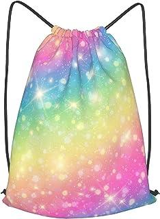 Magical Style Hand Eyes Moon Waterproof Drawstring Backpack String Bag Sport Gym Sackpack for Men Women Girls Boys