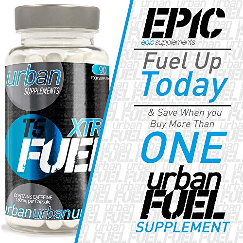 Urban Fuel XTR T5 Super Strength Metabolism & Energy Maintenance Support Food Supplement with Caffeine, L-Tyrosine, Choline, Pyridoxine HCL & Cholecalciferol - 90 Capsules