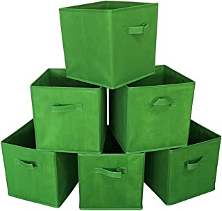 Sodynee New Foldable Cloth Storage Cube Basket Bins Organizer Containers Drawers, 6 Pack