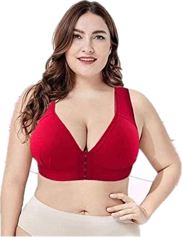 FRSH MNT MASI Bra-Plus Size Elastic Push Up Bra,Seamless Sleep Bra Super Stretchy Bra for Women