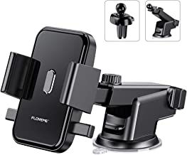 Cell Phone Holder for Car FLOVEME 2 in 1 Kit Long Neck 360 Rotate One Touch Auto-Grip Dashboard/Windshield/Air Vent Car Phone Mount for iPhone Xs Max XR X 8 7 Plus Samsung Galaxy Note 10 9 8 S10 S9 S8
