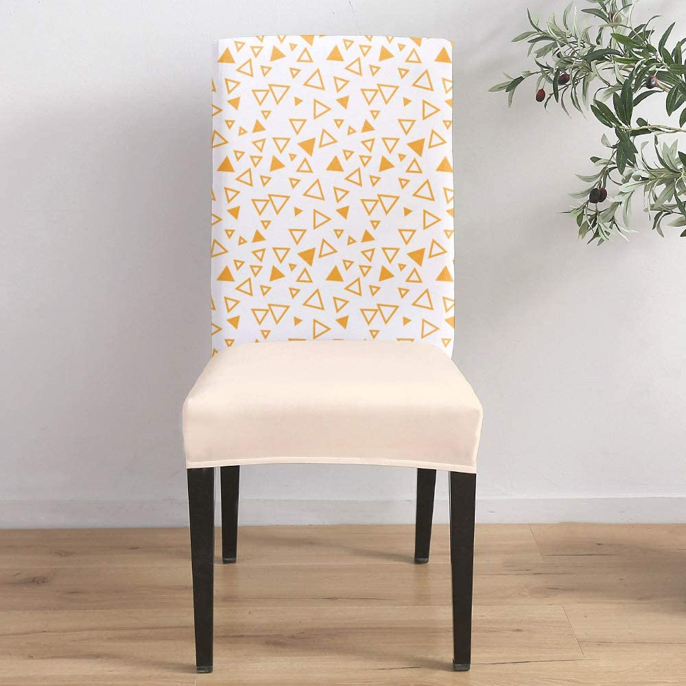 Dining Room Memphis Mall Stretch Chair Cover Trian Geometric Slipcover Simple In a popularity