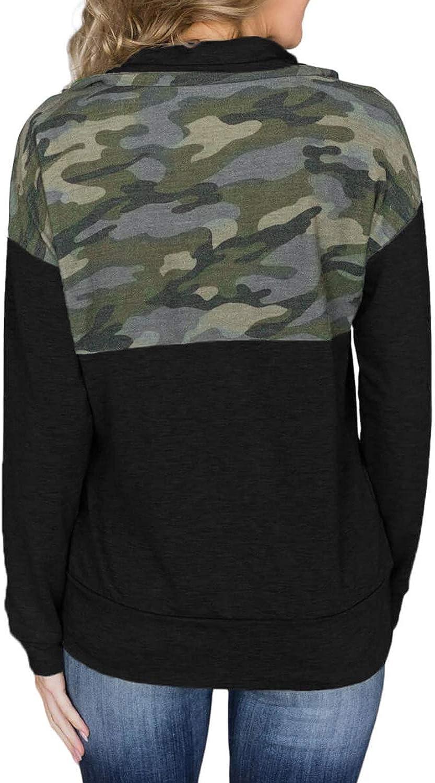 Sidefeel Women Long Sleeve Zip-Up Hoodie Jacket Solid Color Sweatshirt Coat