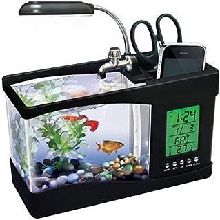 ATC Mini USB LCD Lamp Desktop Fish Tank Aquarium With LED Clock