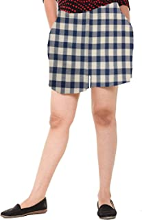 EASY 2 WEAR ® Womens Cotton Checks Shorts (Size XS to 4XL) Comfort FIT and Plus Sizes