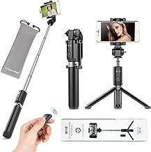 VANZAVANZU Selfie Stick with Tripod and Detachable Wireless Remote for iPhone x xr xs max 6 6s 7 8 Plus Samsung Phone Galaxy s8 s9 s10 j7 Note 9 8 (Black)