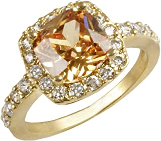 champagne stone ring
