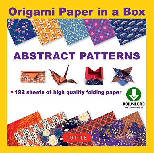 Origami Paper in a Box - Abstract Patterns: Origami Book with Downloadable Patterns for 10 Different Origami Papers (English Edition)