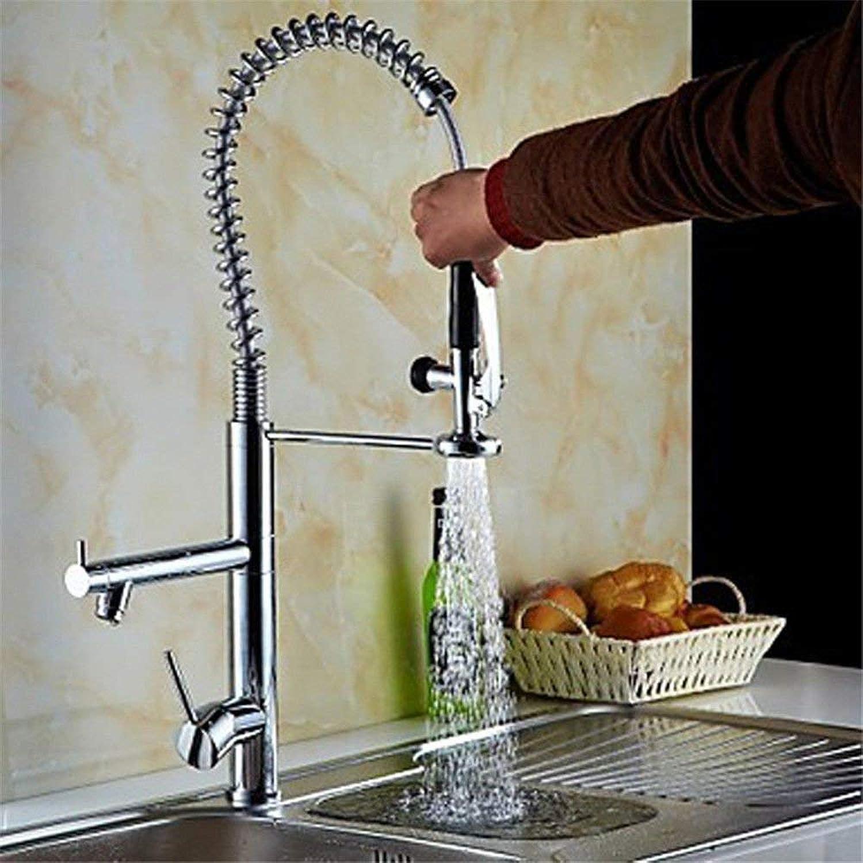 Owents360 ° drehbarer Wasserhahn Retro Wasserhahn Küchen-Mischbatterie Bad Becken Waschbecken Mischbatterie Wasserhahn Auslauf Massivmessingkopf Heie und kalte Becken-Mischbatterie