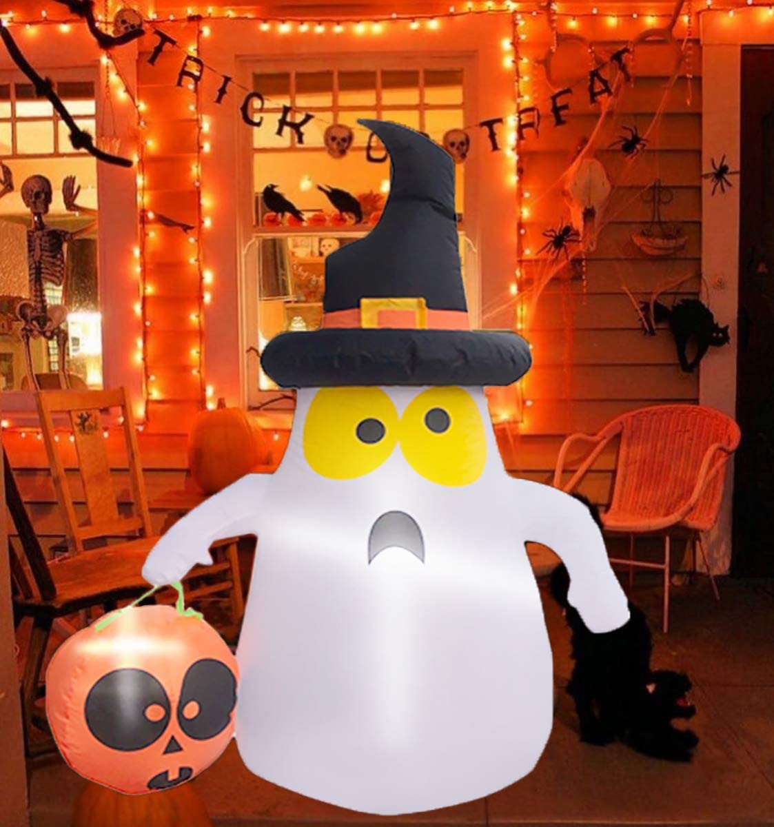 Kyerivs 4FT Halloween Blow Up with Inflatables Hand- White Ghost Cheap Max 86% OFF SALE Start