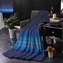 ZSUO Blanket - Indoor/Outdoor Moon and Stars Over Santa Barbara Channel Infinity Foggy Pacific Ocean Warm & Hypoallergenic Washable Couch/Bed Throws 35