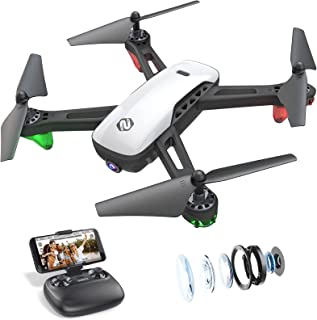 SANROCK U52 Drone with 1080P HD Camera for Adults, WiFi Live Video FPV Drone RC Quadcopter for Beginners, Gravity Sensor, ...