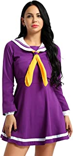 Women Girls Sailor Suit Cosplay Costume Uniform Role Play Fancy Dress Outfits