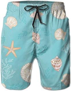 Men's Boy's Casual Novelty Beach Short Strawberry Pattern Background Swimming Trunks