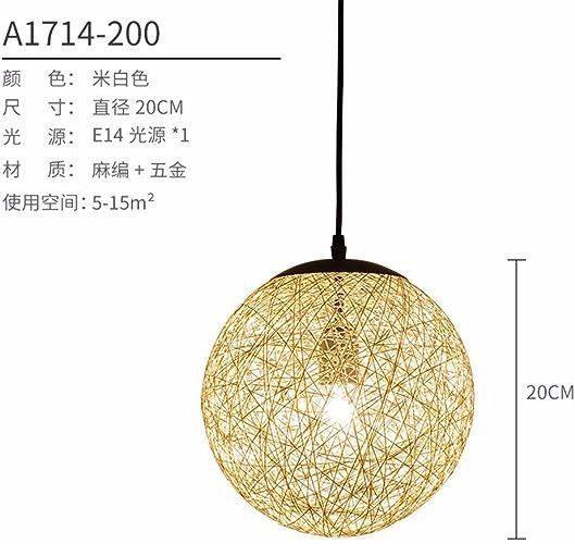 LuckyLibre Poignée de chambre à coucher Cuisine Restaurant Bar Cafe d'éclairage Lampe de couloir lustre 20CM Beige