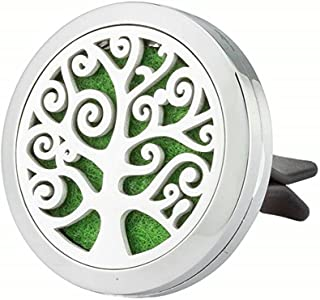JAOYU Animal Locket Aromatherapy Car Essential Oil Diffuser Stainless Steel Vent Clip Tree of Life Perfume Jewelry Women Birthday Gifts