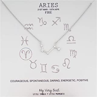 silver zodiac constellation necklace