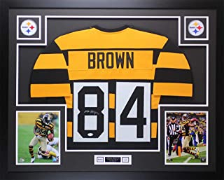 bb0e0dc7eee Antonio Brown Autographed Signed & Framed Bumblebee Steelers Jersey  Signature Memorabilia - JSA Authentic