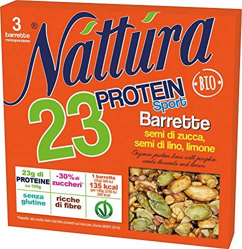 Eurofood Barretta Protein Sport Semi Zucca Lino e Limone Bio - 80 g