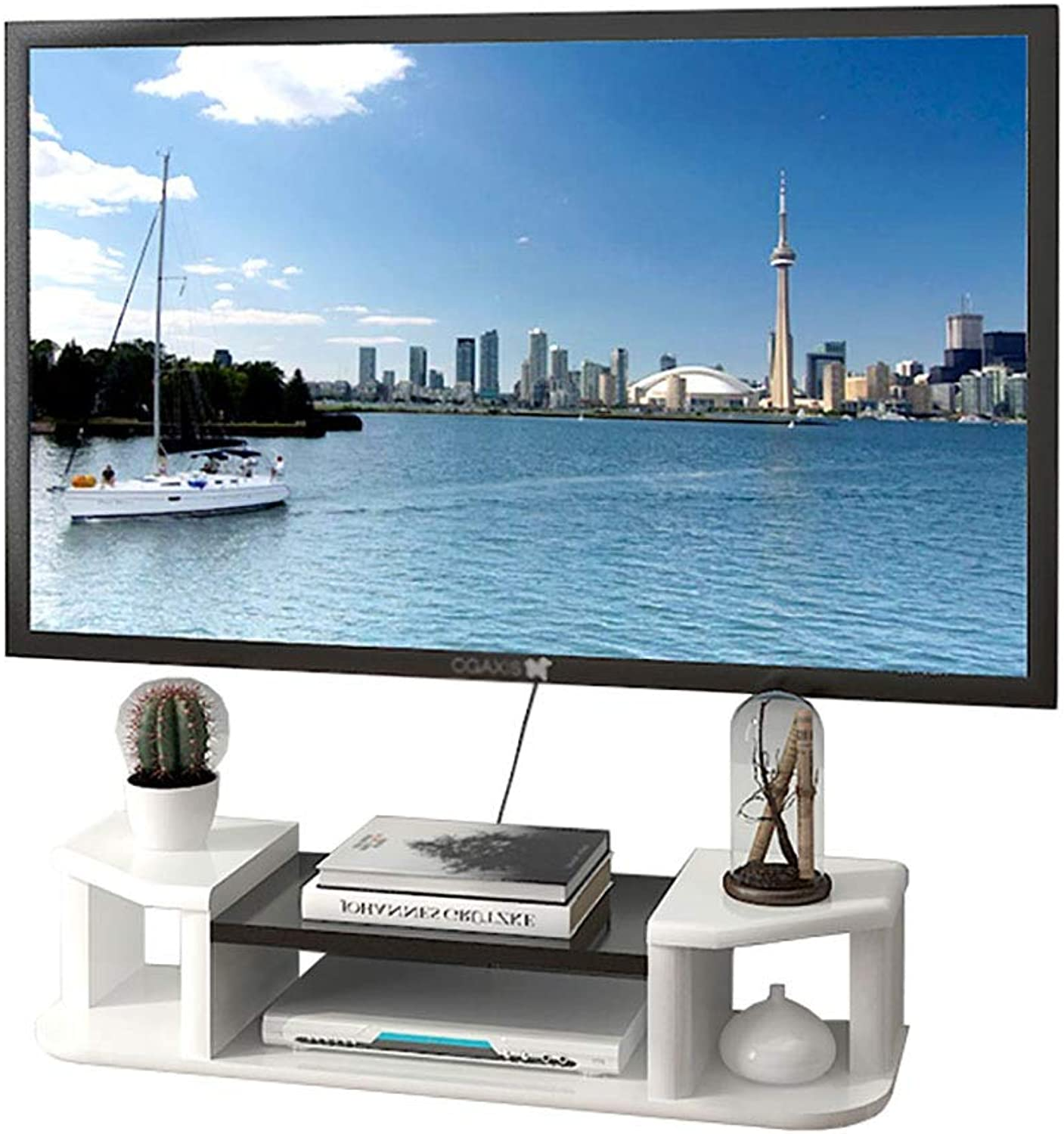 TV Cabinet, Wall-Mounted TV Cabinet, Set-top Box, Environmentally Friendly and Durable, Easy to Install, Available in 3 Sizes (Size   80cm)