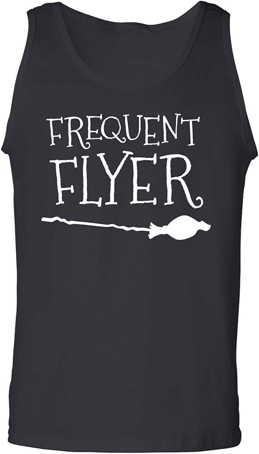 Frequent Flyer Adult Tank Top in Black - XXX-Large