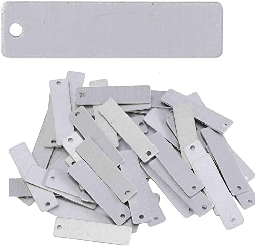 lowest Stamping popular Blanks - .5 Inch x 2 Inch Rectangle with online sale Hole - Aluminum 0.063 Inch (14 Ga.) - 50 Pack outlet sale