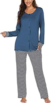 YZ-YUAN Conjunto de Pijamas de enfermería de Maternidad para ...