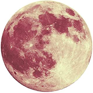 Elevin(TM) ???? 30cm 3D Large Moon Fluorescent Wall Sticker Removable Glow in The Dark Sticker