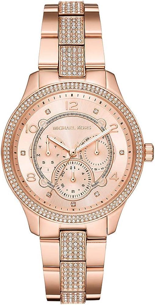 Michael kors, orologio per donna,in acciaio inossidabile con cristalli MK6614