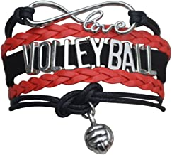 Infinity Collection Volleyball Bracelet- Volleyball Jewelry - Perfect Volleyball Gifts for Players