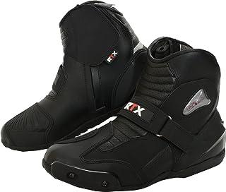 63c219efc38 RTX Dyno Tex - Botas Cortas de Piel para Motocicleta, Impermeables, Color  Negro