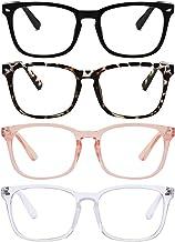 Reading Glasses Blue Light Blocking Readers for Women Men Nerd Glasses Clear Vision Anti Glare/UV, Reduce Eyestrain Comfort Lightweight Eyeglasses
