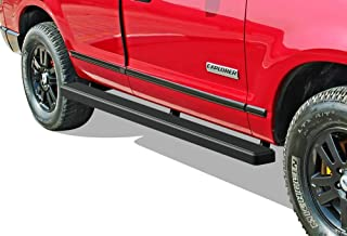 APS iBoard Running Boards 4 inches Matte Black Custom Fit 2006-2010 Ford Explorer Sport Utility 4-Door (Exclude Models with Rear AC) (Nerf Bars Side Steps Side Bars)