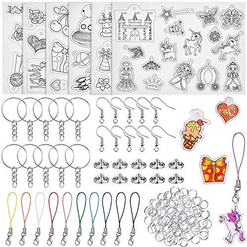 Kit de 156 Hojas de Plástico Termocontraíble - 6 Hojas de Plástico Retráctil, 20 Embragues...