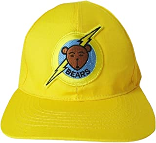 Bad News Bears Baseball Hat Adjustable Buckle Slide New Stitch Cap Yellow