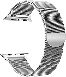 Milanese Loop for Apple Watch 44mm 42mm, Stainless Steel Alloy Replacement Watch Band for iWatch Series 4/3/2/1 (Silver)
