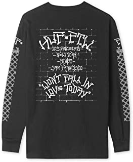 HUF Worldwide Pavillion Long Sleeve Tee (Black) Men's Graphic Shirt