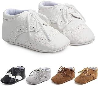 کفش پیاده روی دختران پسر بچه Methee نوزادان ، کفش های واکر اول لغزنده نرم و لغزش کفش های جدید تخت نوزاد ، مناسب برای غسل تعمید / خزیدن / عروسی