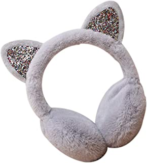 Winter Autumn Warm Earmuffs Cute Cartoon Ear Earflap Plush Earmuff Women Girls Foldable Earwarmer