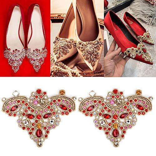 HEEPDD 2 unids Rhinestone Crystal Applique DIY Coser en Faux Pearl Patch para Zapatos Bolsos Sombreros Ropa Accesorios de la joyería(# 5) ✅