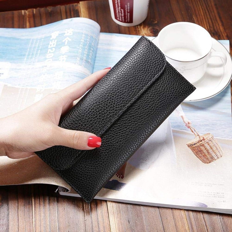 Girls Purse Women's Wallet,Lady Wallet Buckle PU Leather Wallet 19  10  2cm (color   A)