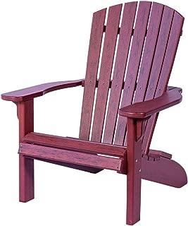 Poly Fan-Back Adirondack Chair (Rustic Burgundy)