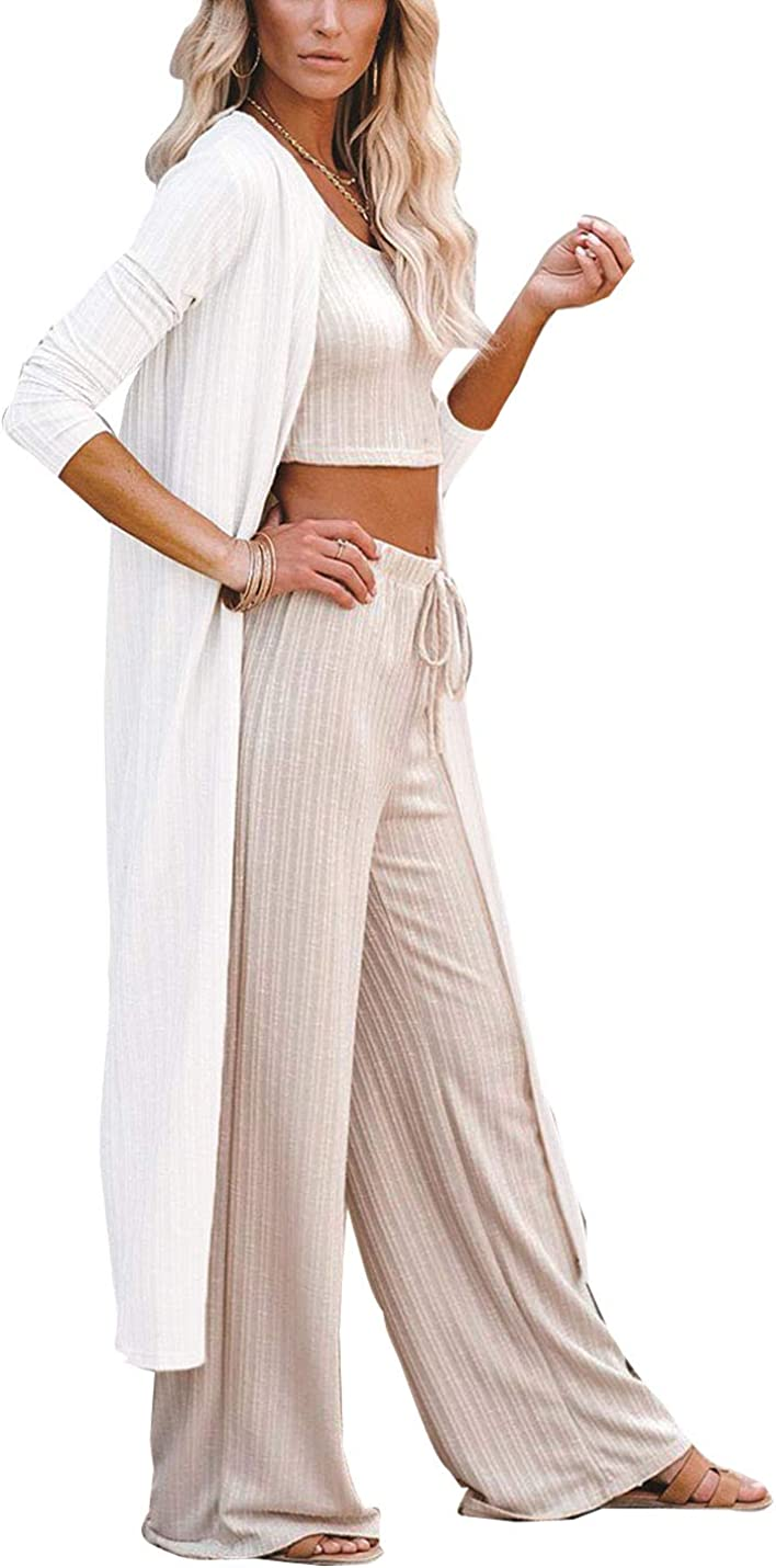 AMEBELLE Women's Boho Casual Long Sleeve Duster Maxi Long Open Front Cardigans