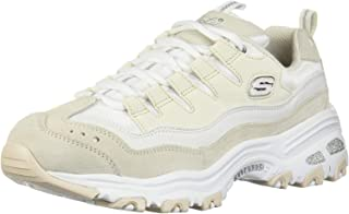Skechers D'Lites Sure Thing Womens White/Natural Trainers-UK 6 / EU 39